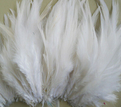 50/100pcs Beautiful White Rooster Feathers 10-15cm/4-6inch Wholesale