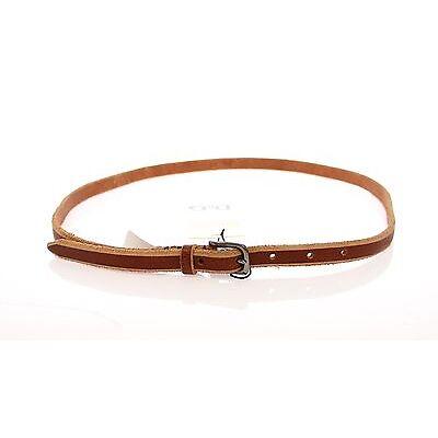 NWT $240 DOLCE & GABBANA D&G Brown Leather Logo Belt Cintura s. 95 cm / 38 inch