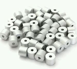 1/16 ALUMINUM CABLE STOPS Snare Snaring Trapping: 100, 200, 500 and 1000 pcs