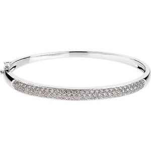Image Is Loading Pave Diamond Bangle Bracelet 1 5 Ct In