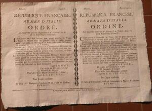 1798-REPUBBLICA-CISALPINA-A-MILANO-RARO-BANDO-CONTRO-LE-SPIE-FINTI-MILITARI