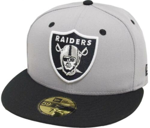 NEW ERA OAKLAND RAIDERS Grey 2 Tone CAP TEAM BACK 59 FIFTY Fitted Limited Edition