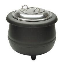 Electric Soup Kettle Warmer 105 Qt Black 15 1132dia X 15h
