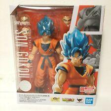 S.H.Figuarts Dragon Ball Z Super Son Gokou Blue Hair Saiyan Figure US Seller New