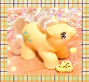 ❤️My Little Pony MLP G1 Vtg Newborn Twin BABY Toppy Yellow Clown 1987❤️