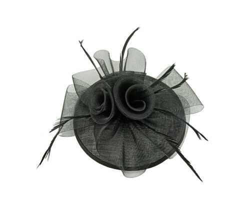 Small Flower Feather Hair Hat Fascinator Headband Clip Wedding Royal Ascot Race