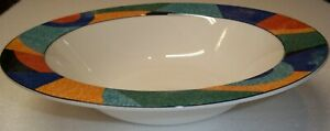 Victoria-amp-Beale-Accents-ROUND-SERVING-BOWL-Colorful-Geometrics