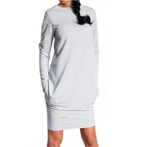 Women/'s Winter Hooded Dress Asymmetric Jumper Long Tops Sweater Sweatshirt FO