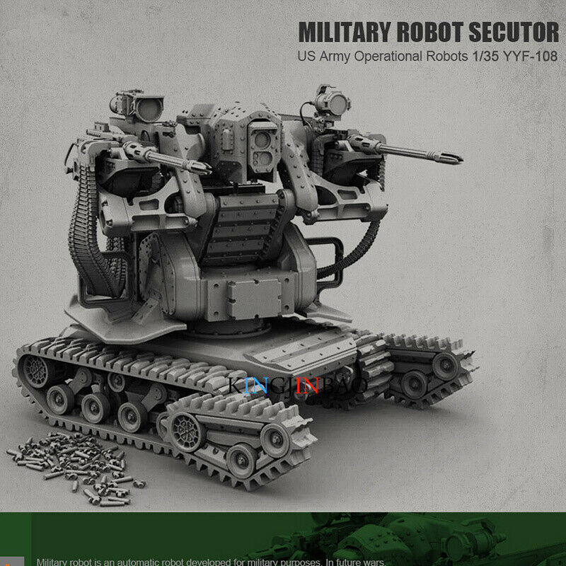 1 35 Unassembled Military Robot Sector Unpainted Resin Garage Kit Model Toys