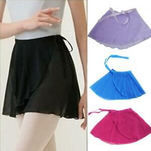 Girls-Clothing-Women-Wrap-Ballet-Dance-Dress-Tutu-Skirt-Chiffon