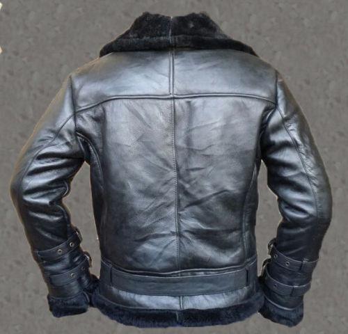Aviator Shearling Leather B3 Bomber Black Jacket Ladies Sheepskin Azalea Iggy PwT1xHOqn