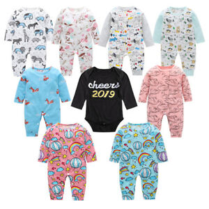 eea91d2862ee Newborn Infant Baby Girl Boy Romper Cartoon Jumpsuit Bodysuit Outfit ...