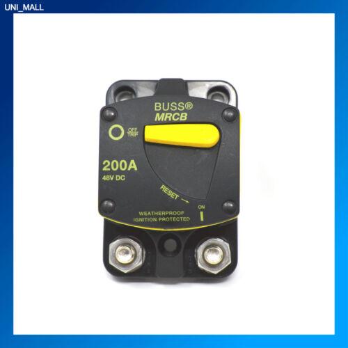 BUSSMANN CB187F-200 MARINE 200 AMP Circuit Breaker Flush Mount 5//16-18 Stud