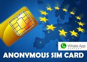 Lebara NL Tarjeta SIM prepago 100% Anonima e sin registro   para Europa y España
