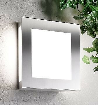 Lampe d/'exterieur luminaire extérieur acier inoxydable Made in Germany NEUF