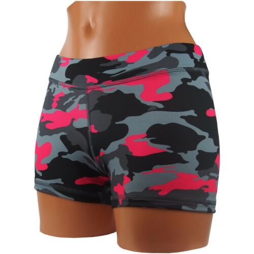 Damen M Spandex Elastan Sport Short Camo Pink