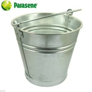 Large Heavy Duty 16l Galvanised Steel Bucket Ash Coal Fire