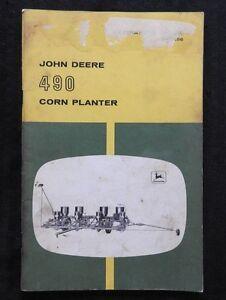 genuine 1960 s john deere 490 corn planter operators owners manual rh ebay com John Deere LT133 Service Manual John Deere Tractor Repair Manual