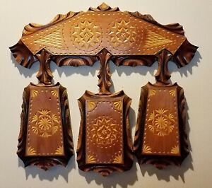 Cutting Boards Wood Set 3 Hand Carved Home Decor For Kitchen And Dining Room Ebay