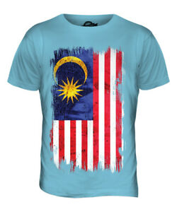 9ea203bd5a9f MALAYSIA GRUNGE FLAG MENS T-SHIRT TEE TOP MALAYSIAN SHIRT FOOTBALL ...