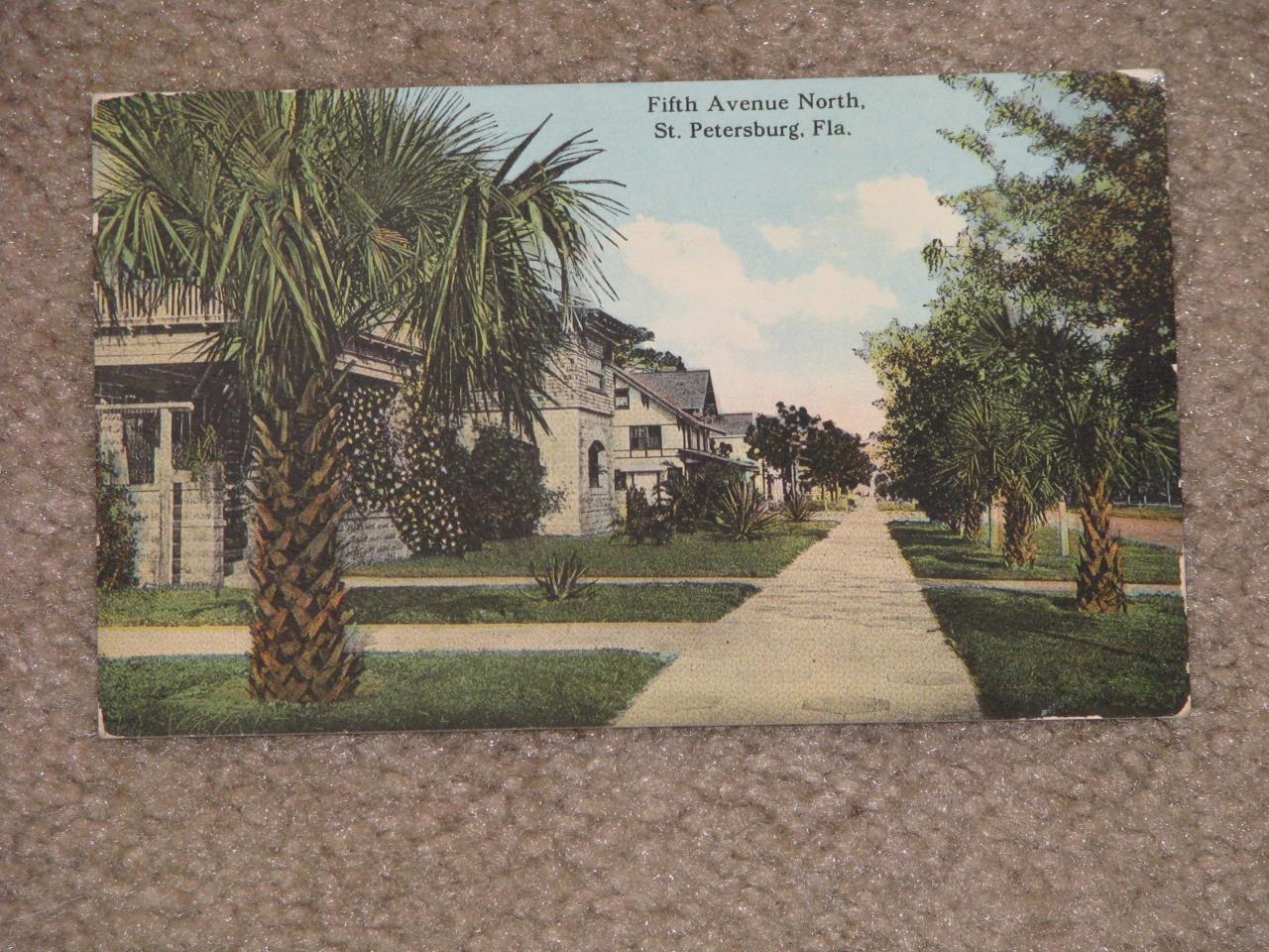 Fifth Avenue North, St. Petersburg, Fla., used vintage card