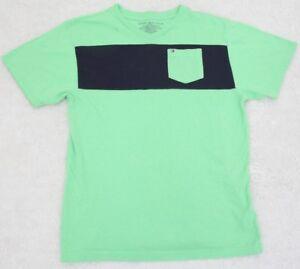 Tommy-Hilfiger-Pocket-Tee-Shirt-Boys-V-Neck-XL-extra-large-20-T-Shirt-Green