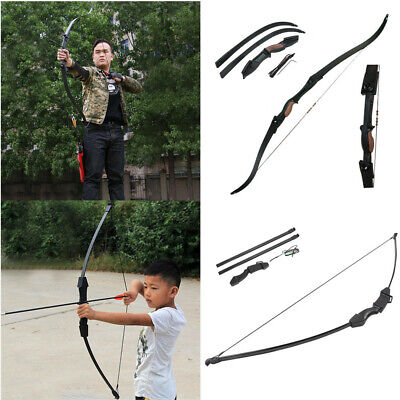 25lbs Archery Hunting Takedown Recurve Bow Double Arrow Shooting Left//Right Hand