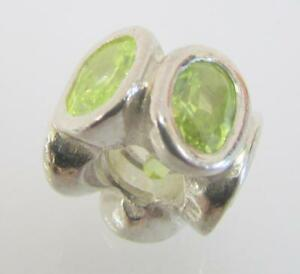 AUTHENTIC-PANDORA-925-STERLING-SILVER-Green-Oval-Lights-CHARM-790311GCZ-Ret-ET2