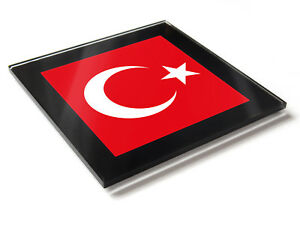 Turquie Drapeau National Couleurs Premium Verre Table Dessous De Verre 01fbygje-08001242-296206731