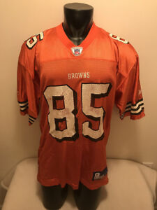 best loved 14b65 525bc Details about Kevin Johnson #85 Cleveland Browns Orange Reebok Jersey Mens  size Large