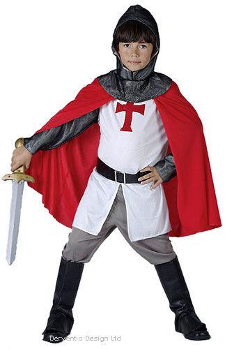 Garçons médiéval chevalier croisé templier Fancy Dress Costume Outfit New Age 4-6