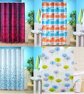 Image Is Loading POLYESTER FUNKY COLOURED SHOWER CURTAIN WHALE MOSAIC JACQUARD