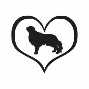 English-Toy-Spaniel-Dog-Heart-Decal-Multiple-Color-amp-Sizes-ebn1456