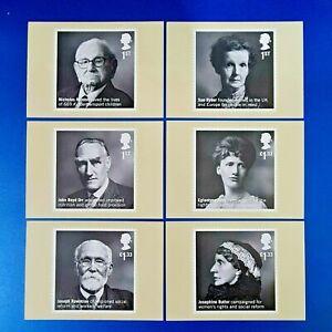 PHQ Stamp Postcards Set of 6 No.412 British Humanitarians 2016 OD4