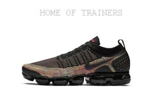 best service 63944 9fa28 Details about Nike Air VaporMax Flyknit 2 Multi Black Pink Blue Men's  Trainer All Sizes