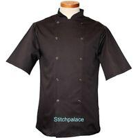 Denny's AFD Brand Black or White Economy Chef Jacket S/Steel Stud XXS-4XL