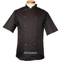 Dennys Afd Brand Black Or White Economy Chef Jacket S/steel Stud Xxs-4xl