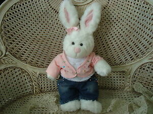 BUILD A BEAR WORKSHOP BUNNY WITH LIMITED TOO EXCLUSIVE JEWELED OUTFIT