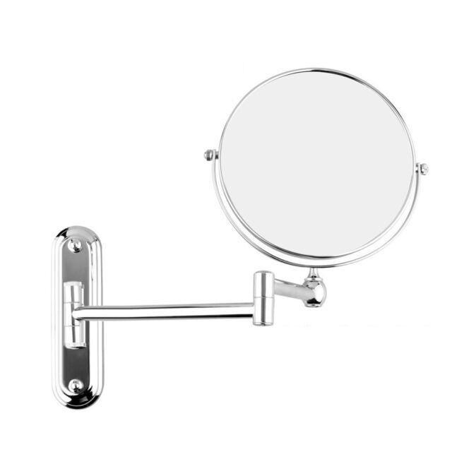 Gurun 5x Magnifying Makeup Mirror Wall Mounted Hotel Bathroom Chrome 6 Mirrors