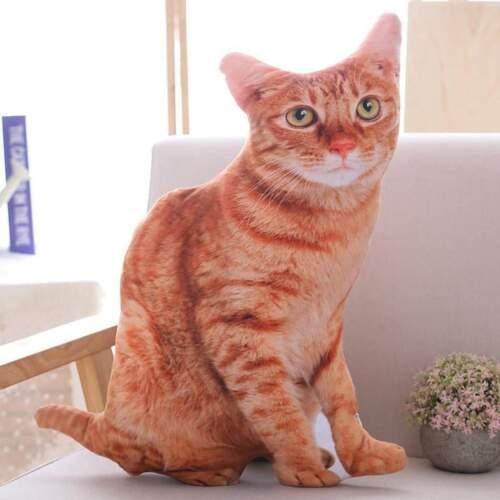 50cm Cute Simulation Cats Plush Pillow Stuffed Soft Realistic Animal Cat Toy