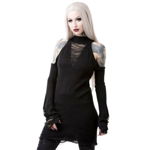 Pull Okkult Punk Des Shredded Killstar Profondeurs Gothique T Strick Goth qBxTfOU