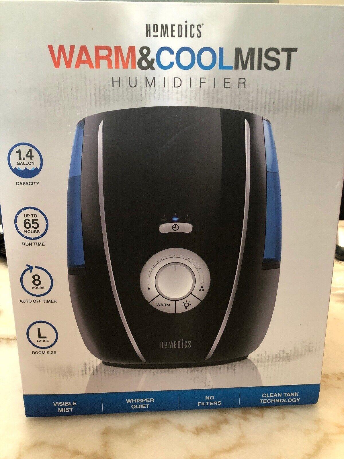 HoMedics Warm & Cold Mist Humidifier, UHE WM80 1.4 gallon