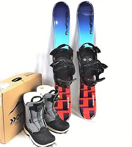 SNOWBLADE-PACKAGE-90CM-wide-blades-540-double-ratchet-Bindings-head-Boots-boa