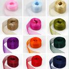 1 Roll 50 Yards Satin Edge Sheer Organza Ribbon Bow Crafts Wedding 3/8