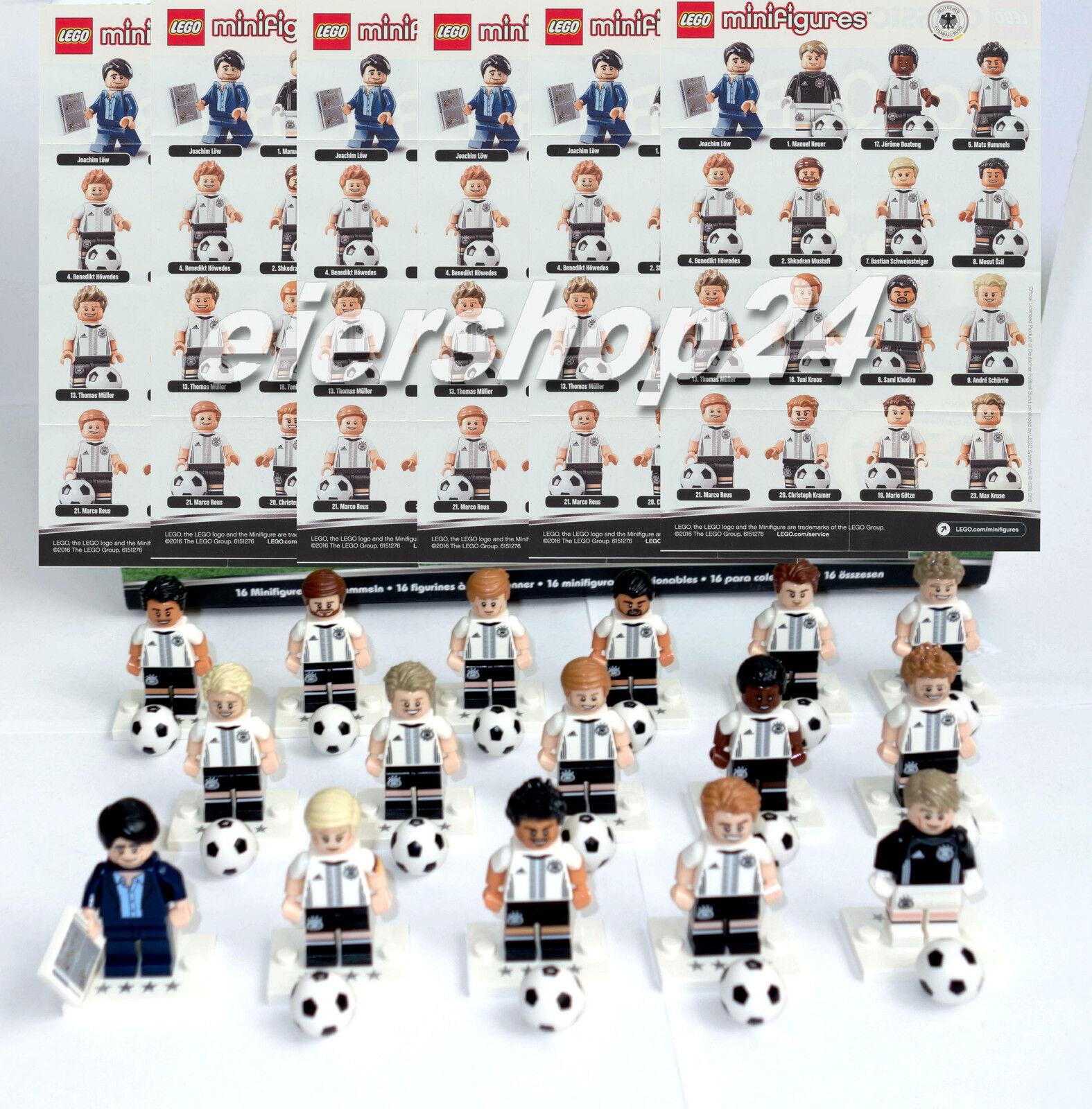 Kompletter Satz LEGO® MINIFIGUREN  71014 DfB DIE MANNSCHAFT Fussball Deutschland