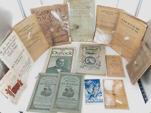 AMERICANA-JOB-LOT-1800s-EARLY-1900s-EPHEMERA-BOOKLETS-ETC-GOOD-RESALE-1
