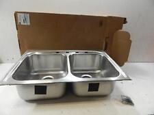 Elkay 1001784406 Top Mount Double Bowl Kitchen Sink Stainless Steel 643963 T3