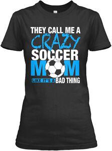 Soccer-Mom-Call-Me-Crazy-amz-Gildan-Women-039-s-Tee-T-Shirt