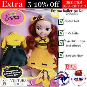 0687ebc88f34d The Wiggles Emma Ballerina Doll With 2 Outfits New 30cm Dancing ...
