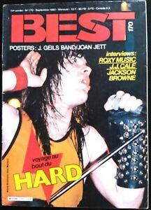 b)BEST n°170 du 09/1982; Interview Roxy Music, J.J. Cale, Jackson Browne/ Hard